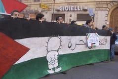 标志巴勒斯坦 免版税库存照片