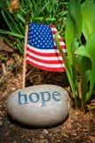 标志希望消息石头美国 库存图片