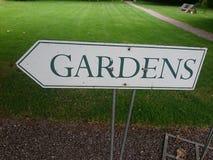 标志庭院在爱尔兰 免版税库存照片