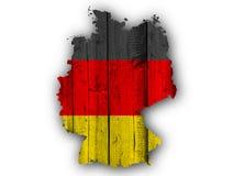 标志德国映射 免版税库存图片