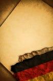 标志德国老纸张 库存照片