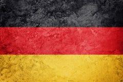 标志德国grunge 与难看的东西纹理的德国旗子 免版税库存图片