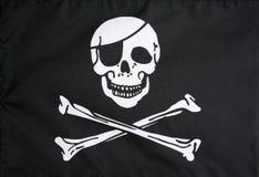 标志快活的海盗罗杰 免版税库存图片