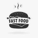 标志快餐汉堡包 免版税库存图片