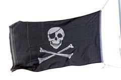 标志快活的海盗罗杰 库存图片