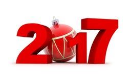 标志新年2017年 免版税库存照片