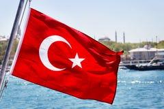 标志旗杆地中海火鸡土耳其 库存图片