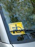 标志无效驾驶 库存照片