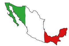 标志映射墨西哥 免版税库存照片