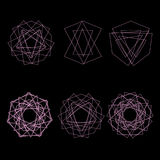 标志样式象星占星术集合五角星形 库存照片