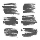 标志横幅、线和污点 库存图片