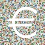 标志欧元 免版税库存图片
