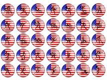 标志比赛奥林匹克夏天美国 库存例证