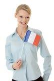 标志法国妇女年轻人 免版税库存图片