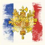 标志法国grunge 免版税图库摄影