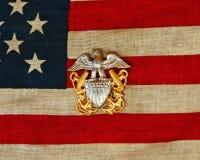标志海军针 库存照片