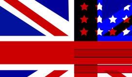 标志混合英国和美国 免版税库存图片