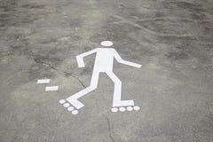 标志溜冰者 免版税库存照片