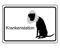 标志狗的医院病房 免版税库存图片