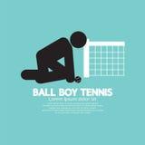 黑标志球童网球 免版税库存照片