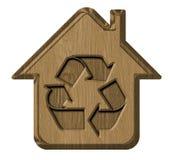 标志生态房子 免版税库存照片
