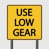 标志用途在透明背景的低速档标志 向量例证
