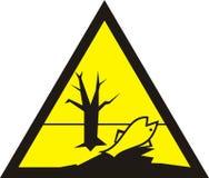标志的毒在黄色三角 有害的化学制品 死的fi 库存例证