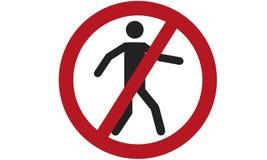 标志的禁止横渡ISO 7010 P004 库存例证