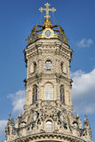 标志的Theotokos的被加冠的教会在Dubrovitsy的 库存图片