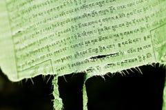 标志祷告西藏 免版税图库摄影