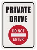 标志私有驱动 皇族释放例证
