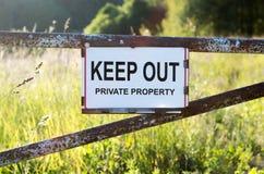 标志私有财产 免版税图库摄影