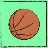 标志篮球 免版税库存图片