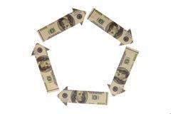 标志美元dominancein世界 库存照片
