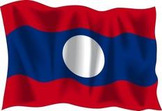 标志老挝 免版税图库摄影