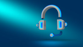 标志耳机 免版税库存图片