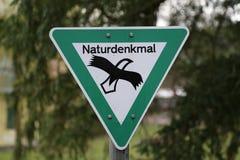 标志自然纪念碑 库存图片