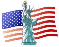 标志自由雕象美国 库存照片