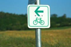 标志自行车方式 免版税库存图片