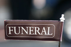 标志葬礼 免版税库存照片