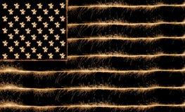 标志闪烁发光物美国 免版税库存照片