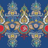 标志阁下shiva om 模式 背景看板卡祝贺邀请 向量例证