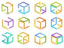 标志颜色盒 图库摄影