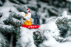 标志2017公鸡 库存照片