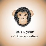 标志2016年-猴子 图库摄影