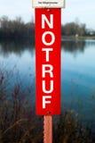 标志以字法紧急状态 免版税库存图片