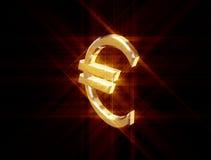 标志货币欧元 免版税库存照片