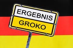 标志-德国的政府投票支持大联合 库存照片