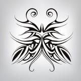 标志蝴蝶纹身花刺。传染媒介例证 库存图片