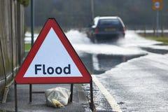 洪水标志 库存照片